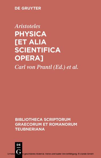Physica [et alia scientifica opera] - Blick ins Buch