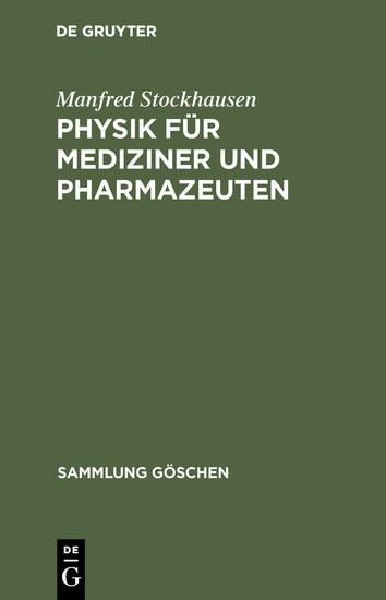 Physik für Mediziner und Pharmazeuten - Blick ins Buch
