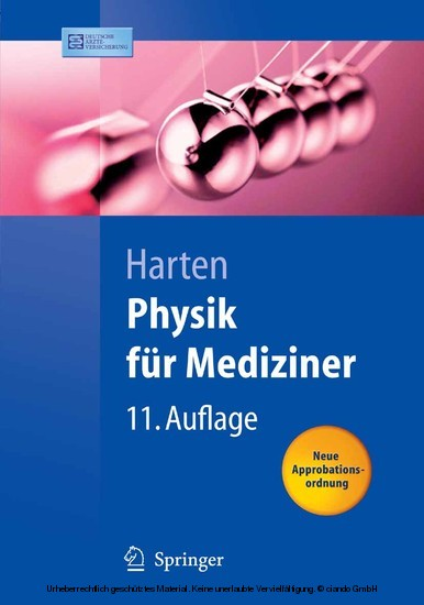 Physik für Mediziner - Blick ins Buch