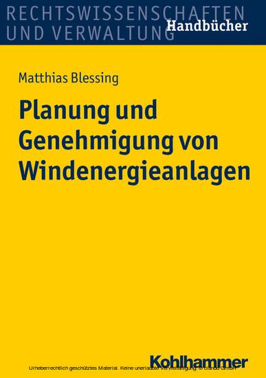 Planung und Genehmigung von Windenergieanlagen - Blick ins Buch