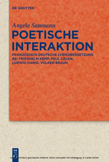 Poetische Interaktion - Blick ins Buch