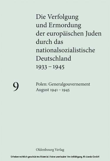 Polen: Generalgouvernement August 1941 - 1945 - Blick ins Buch