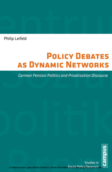 Policy Debates as Dynamic Networks - Blick ins Buch
