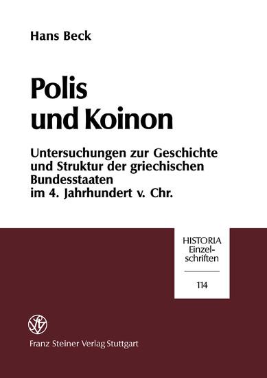 Polis und Koinon - Blick ins Buch