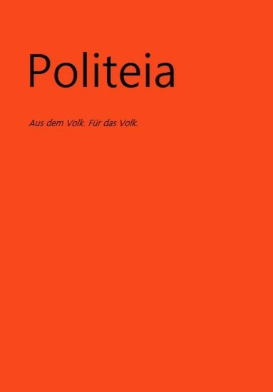 Politeia - Blick ins Buch