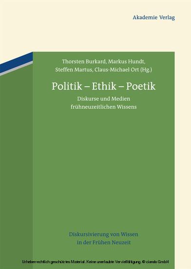 Politik - Ethik - Poetik - Blick ins Buch