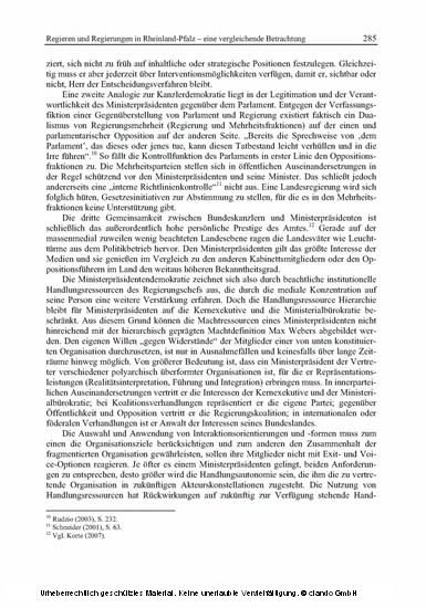 Politik in Rheinland-Pfalz - Blick ins Buch