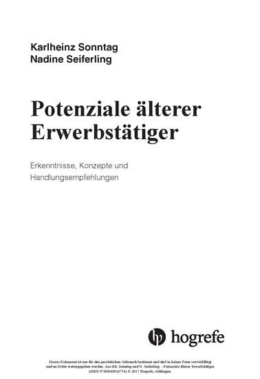 Potenziale älterer Erwerbstätiger - Blick ins Buch