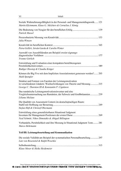 Potenziale der Personalpsychologie - Blick ins Buch