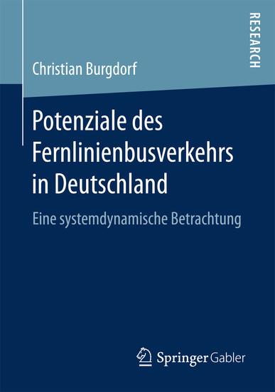 Potenziale des Fernlinienbusverkehrs in Deutschland - Blick ins Buch
