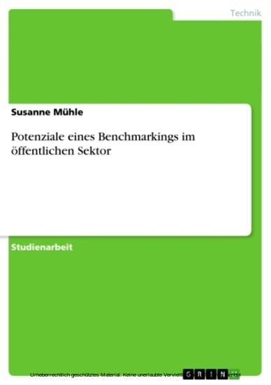Potenziale eines Benchmarkings im öffentlichen Sektor - Blick ins Buch