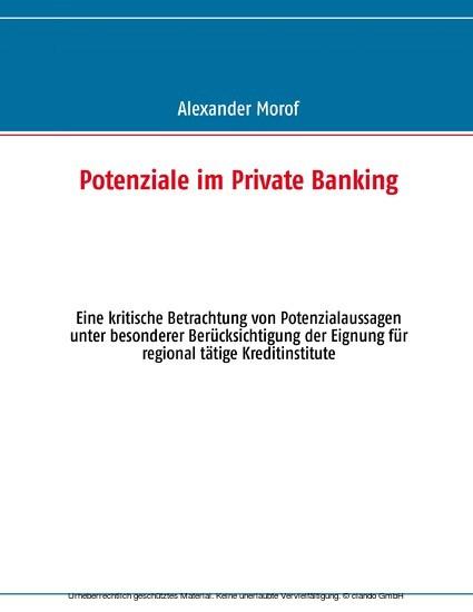 Potenziale im Private Banking - Blick ins Buch