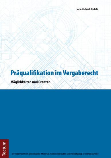 Präqualifikation im Vergaberecht - Blick ins Buch