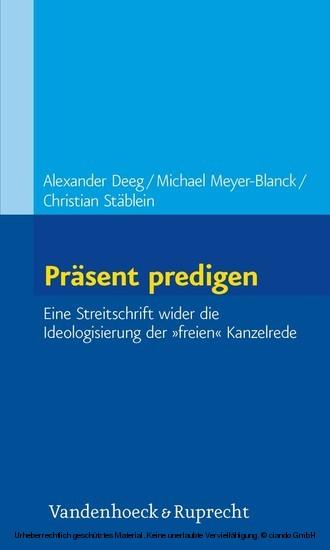 Präsent predigen - Blick ins Buch