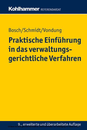Praktische Einführung in das verwaltungsgerichtliche Verfahren - Blick ins Buch