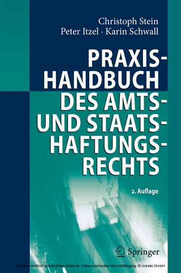 Praxishandbuch des Amts- und Staatshaftungsrechts - Blick ins Buch