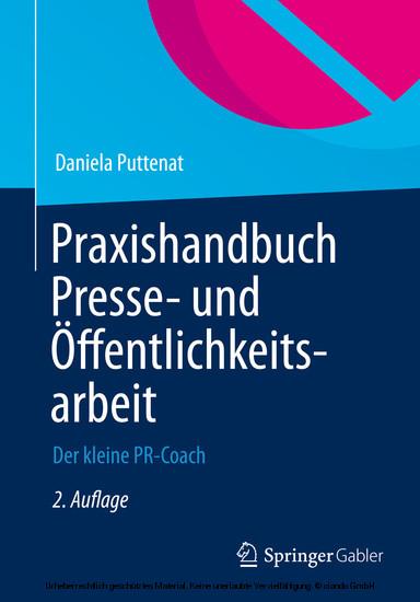 Praxishandbuch Presse- und Öffentlichkeitsarbeit - Blick ins Buch