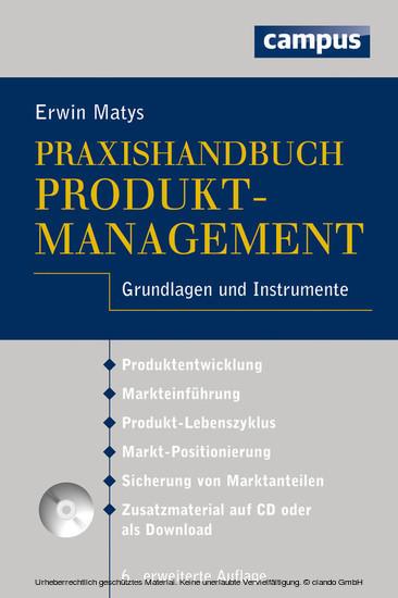 Praxishandbuch Produktmanagement - Blick ins Buch