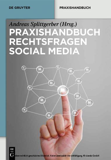 Praxishandbuch Rechtsfragen Social Media - Blick ins Buch