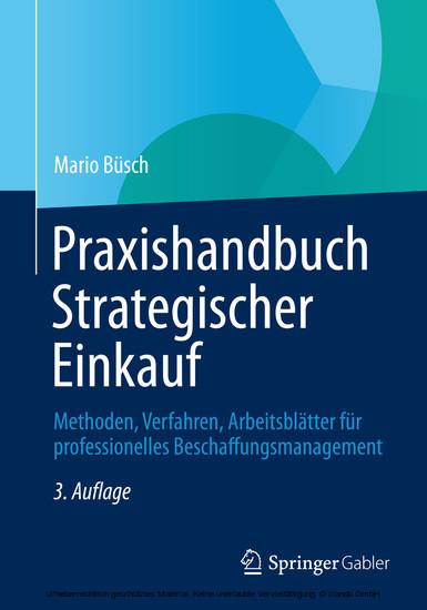 Praxishandbuch Strategischer Einkauf - Blick ins Buch