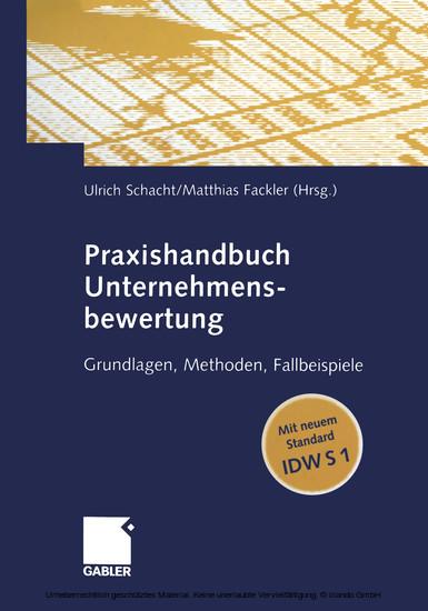 Praxishandbuch Unternehmensbewertung - Blick ins Buch