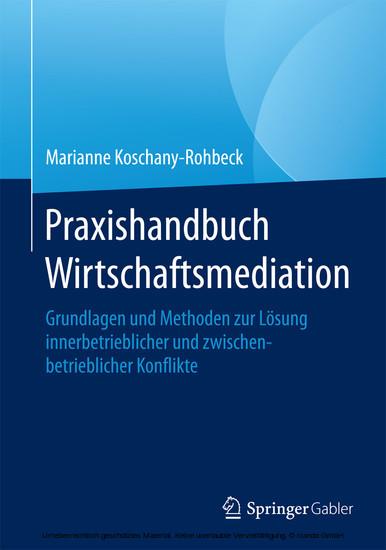 Praxishandbuch Wirtschaftsmediation - Blick ins Buch