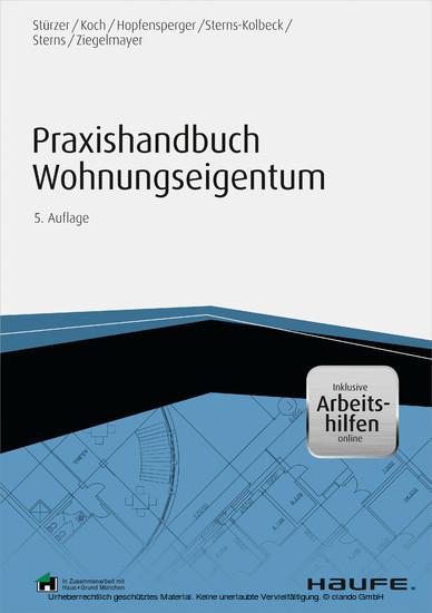 Praxishandbuch Wohnungseigentum - inkl. Arbeitshilfen online - Blick ins Buch