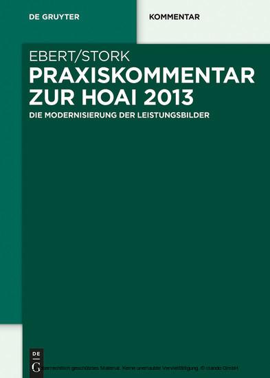 Praxiskommentar zur HOAI 2013 - Blick ins Buch