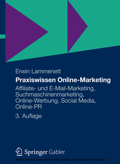 Praxiswissen Online-Marketing - Blick ins Buch