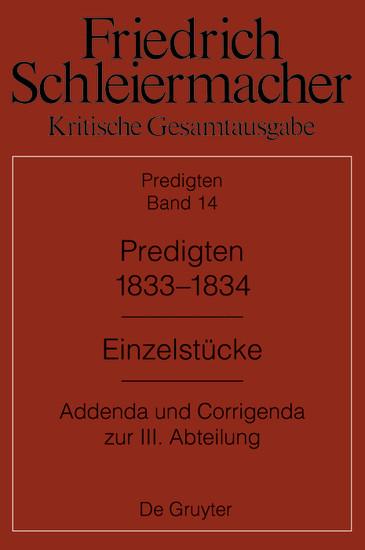 Predigten 1833-1834 - Blick ins Buch