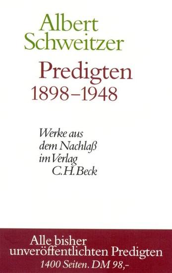 Predigten 1898-1948 - Blick ins Buch