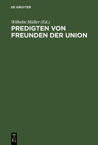 Predigten von Freunden der Union - Blick ins Buch
