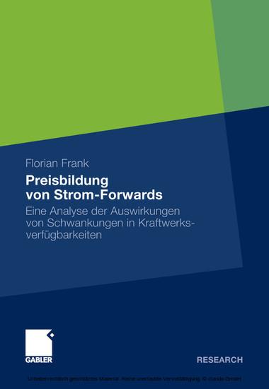 Preisbildung von Strom-Forwards - Blick ins Buch