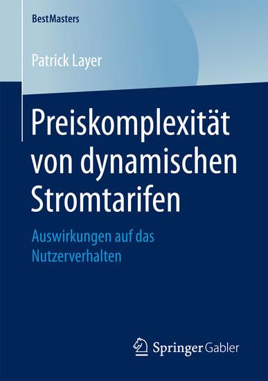 Preiskomplexität von dynamischen Stromtarifen - Blick ins Buch