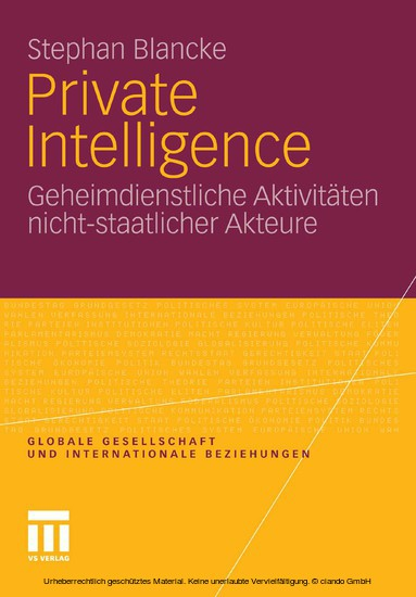Private Intelligence - Blick ins Buch