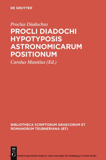 Procli Diadochi hypotyposis astronomicarum positionum - Blick ins Buch