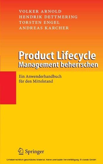 Product Lifecycle Management beherrschen - Blick ins Buch