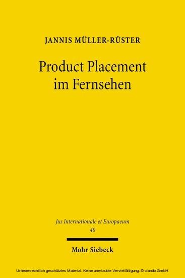 Product Placement im Fernsehen - Blick ins Buch