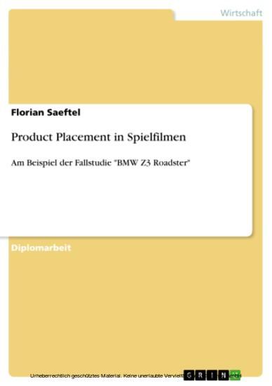 Product Placement in Spielfilmen - Blick ins Buch
