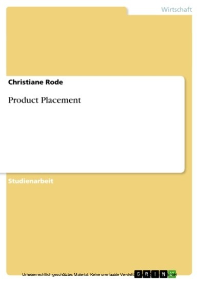 Product Placement - Blick ins Buch