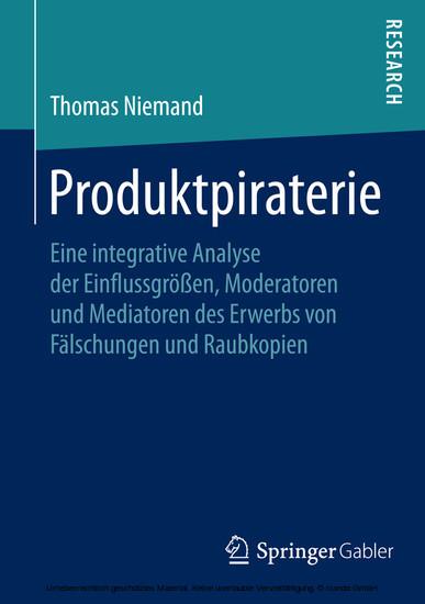 Produktpiraterie - Blick ins Buch