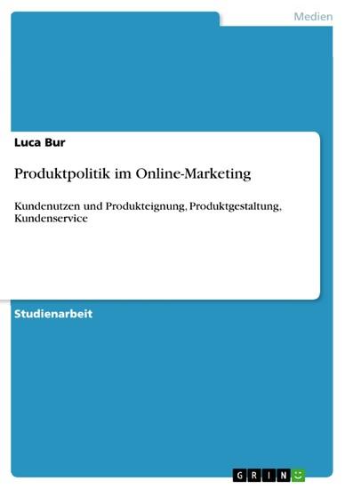 Produktpolitik im Online-Marketing - Blick ins Buch
