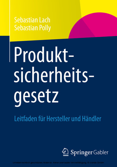 Produktsicherheitsgesetz - Blick ins Buch