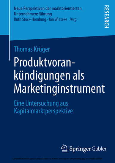 Produktvorankündigungen als Marketinginstrument - Blick ins Buch