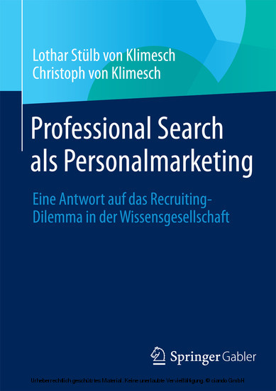 Professional Search als Personalmarketing - Blick ins Buch