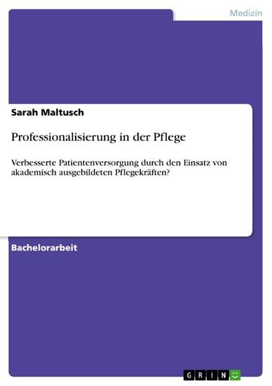 Professionalisierung in der Pflege - Blick ins Buch