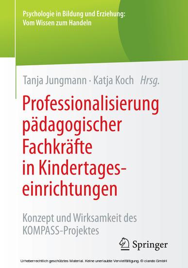 Professionalisierung pädagogischer Fachkräfte in Kindertageseinrichtungen - Blick ins Buch