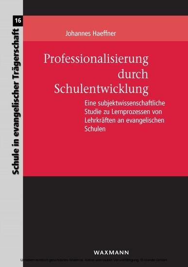 Professionalisierung durch Schulentwicklung - Blick ins Buch