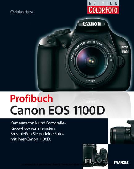 Profibuch Canon EOS 1100D - Blick ins Buch