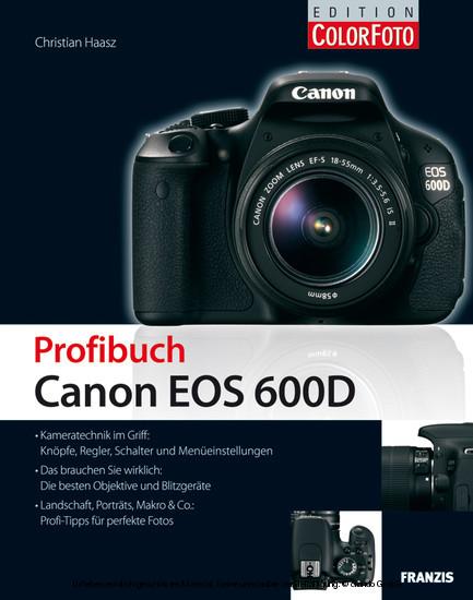 Profibuch Canon EOS 600D - Blick ins Buch
